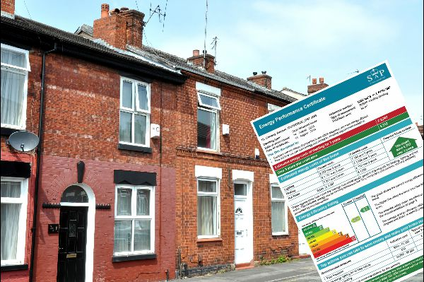 in the terraced street there is a picture of the first page of a domestic epc
