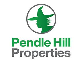 Company logo of Pendle Hill Properties showing a witches' head wearing a witches hat within a circle